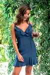 Better with You Dress - Navy - women's sleeveless dress with adjustable cami straps - Closet Candy Boutique; Model: Hannah Sluss