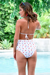 Cabana Life Bikini - Stars and Stripes women's triangle top, high-waisted mesh swimsuits, Closet Candy Boutique - Back View