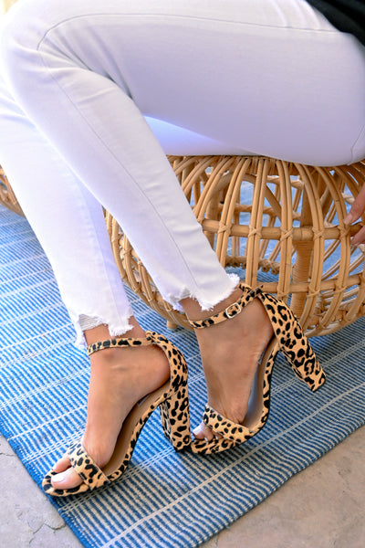 STEVE MADDEN Carrson Heels - Leopard women's ankle strap block high heel, Closet Candy Boutique 3