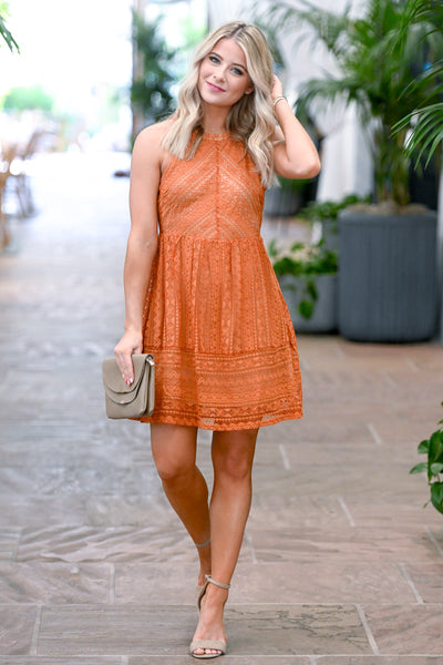 Summer Romance Lace Dress - Amber women's sleeveless crochet sundress, Closet Candy Boutique 4