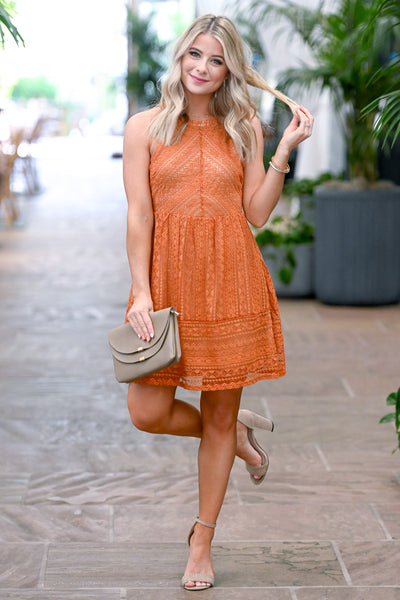 Summer Romance Lace Dress - Amber women's sleeveless crochet sundress, Closet Candy Boutique 1