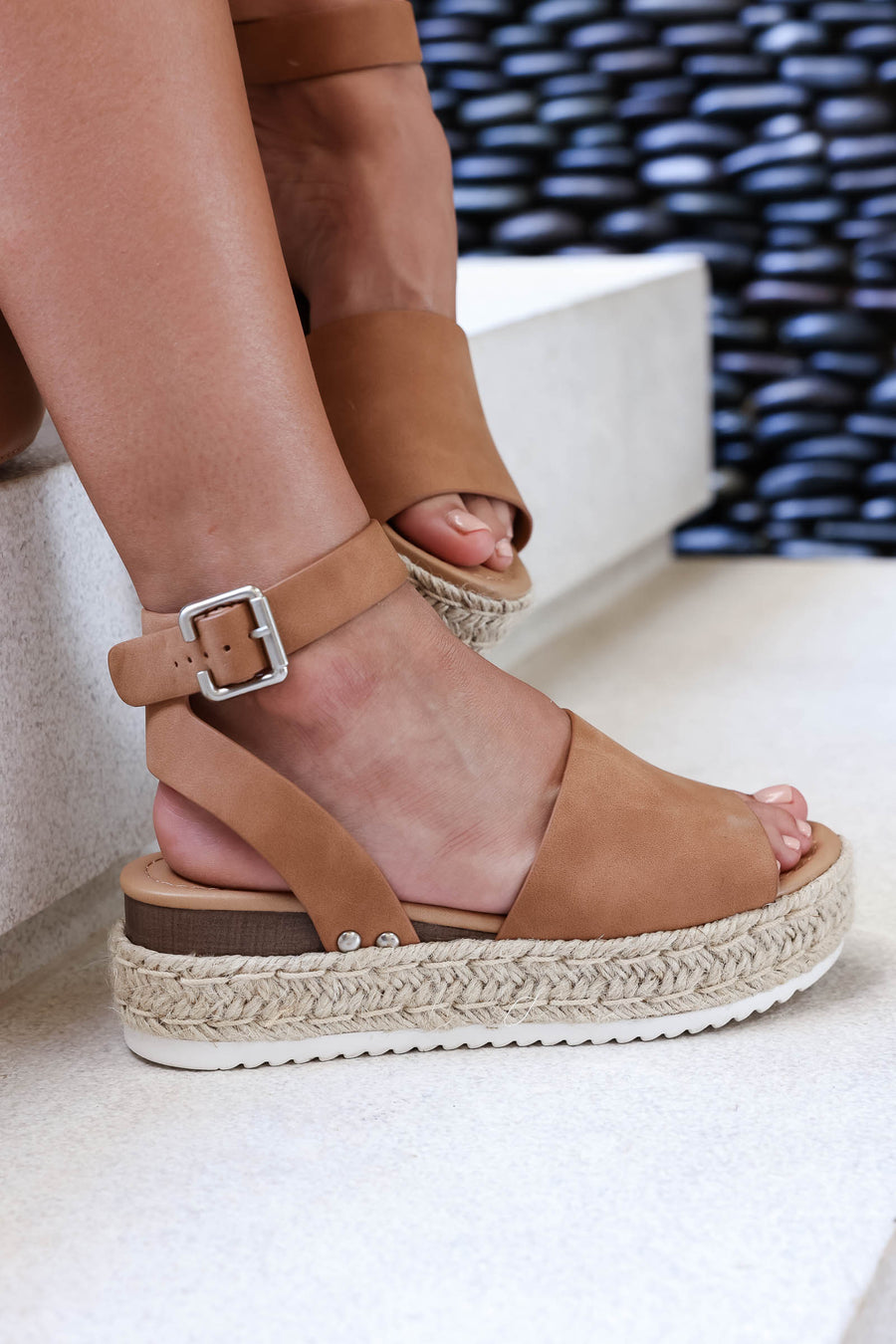 Vitamin Sea Espadrille Sandals - Tan closet candy women's trendy espadrille platform wedge sandal 1