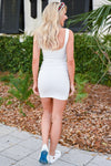 Got It Going On Dress - White womens trendy bodycon dress closet candy back
