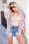 KAN CAN Emmie Denim Shorts - Medium Wash closet candy women's trendy exposed button ripped jean shorts outfit front 2