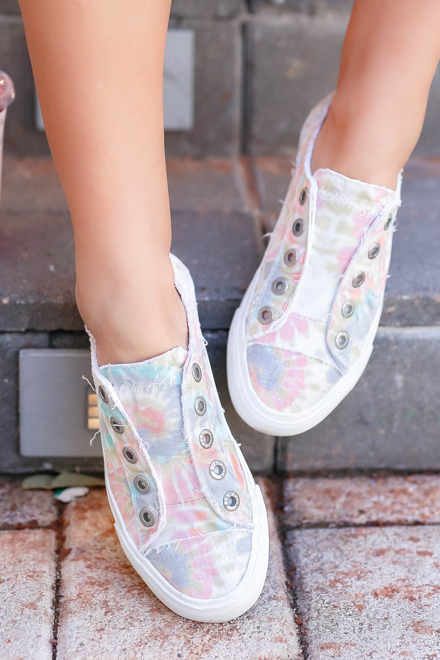 Wherever You Wander Tie Dye Sneakers - Multi closet candy women's trendy colorful slip on sneakers 1