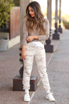 Give It A Rest Camo Joggers - Beige closet candy women's trendy camouflage loungewear jogger pants 3