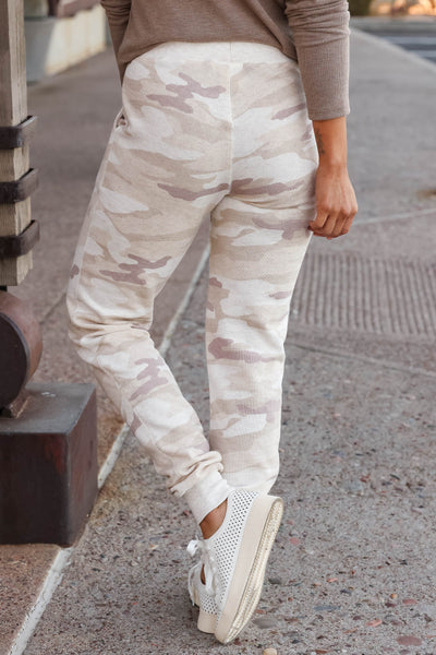 Give It A Rest Camo Joggers - Beige closet candy women's trendy camouflage loungewear jogger pants 6