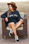"""More Dogs"" Graphic Sweatshirt - Black closet candy women's trendy graphic pullover sweatshirt sitting"