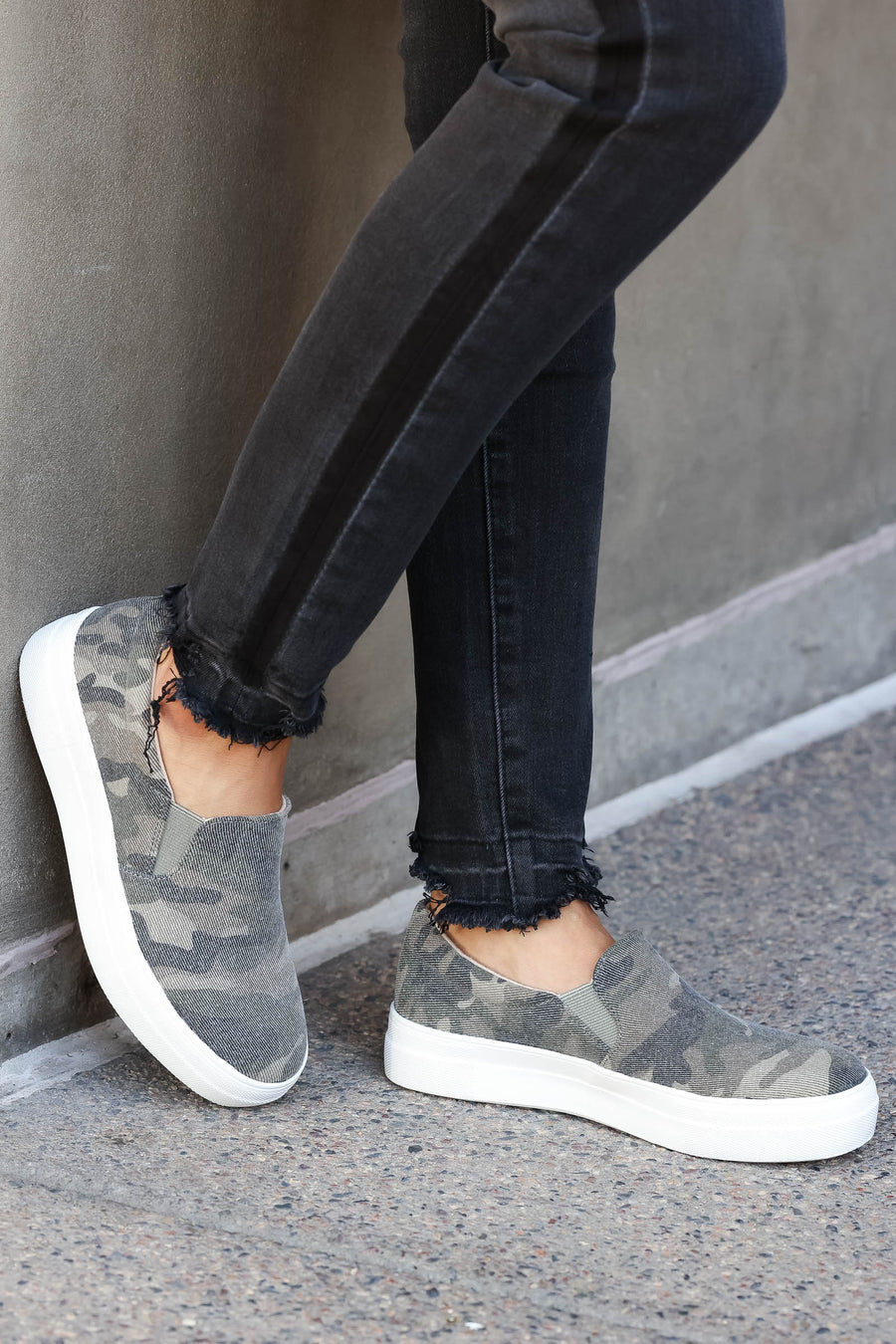 Better Get Going Sneakers - Camo closet candy women's trendy camouflage slip on shoes 1