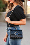 Margot Quilted Shoulder Bag - Black closet candy women's trendy purse with geometric buckle detail 1