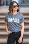 """Mama"" Graphic Tee - Vintage Black closet candy women's trendy short sleeve graphic top front"