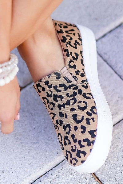 Better Get Going Sneakers - Leopard closet candy women's trendy animal print slip on sneakers 1