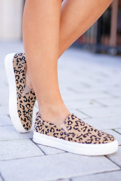 Better Get Going Sneakers - Leopard closet candy women's trendy animal print slip on sneakers 3