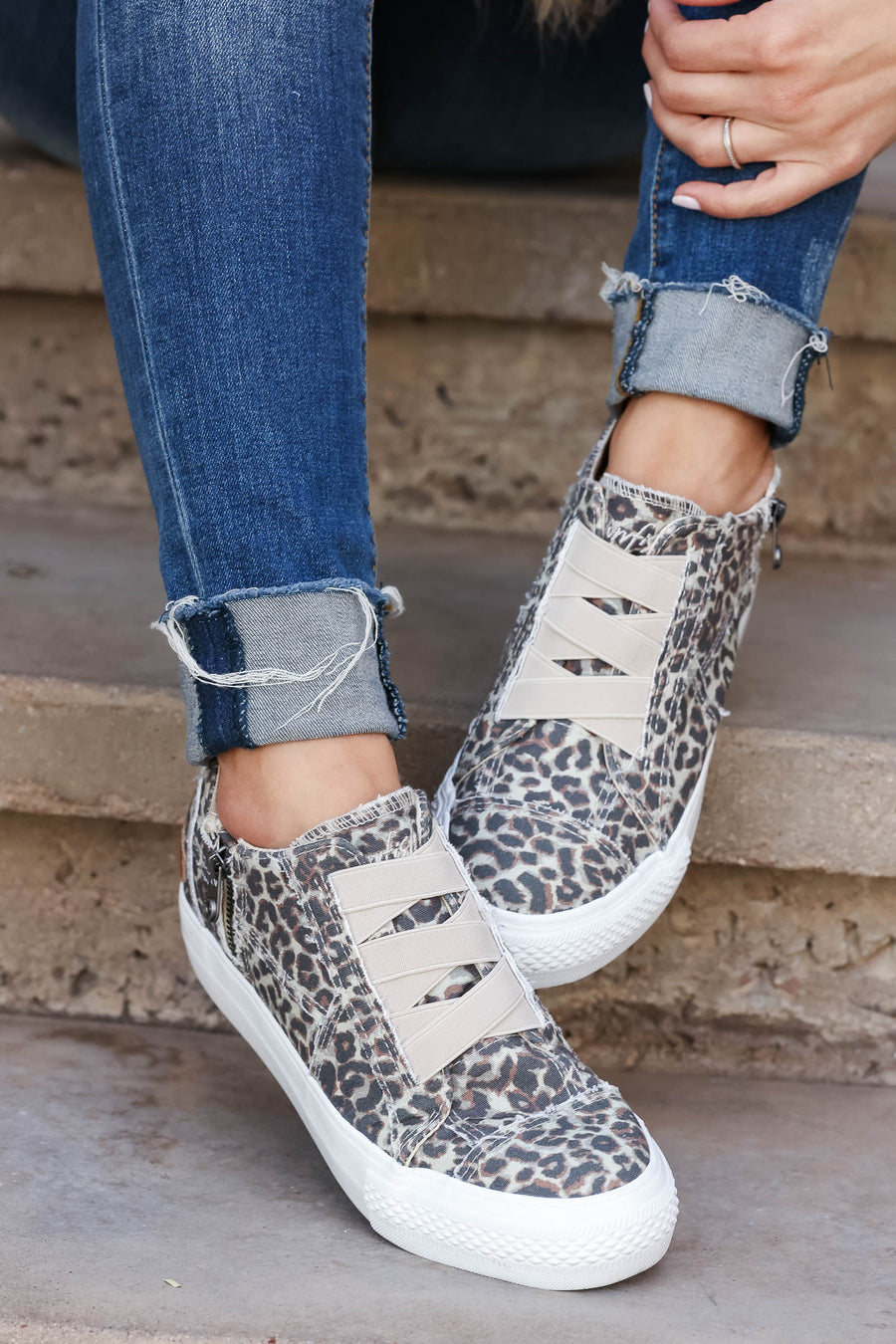 Walk That Way Wedge Sneaker - Vintage Leopard closet candy women's trendy animal print canvas wedge sneakers 1