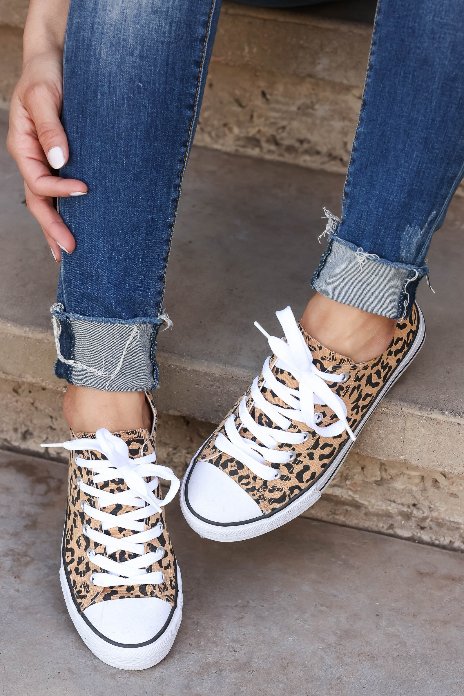 True Colors Sneakers - Leopard closet candy women's trendy leopard print lace up sneakers 1