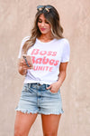 """Boss Babes Unite"" Graphic Tee - White White, round neck, women's short sleeve tee with ""Boss Babes Unite"" graphic on front. Made in the USA closet candy front"
