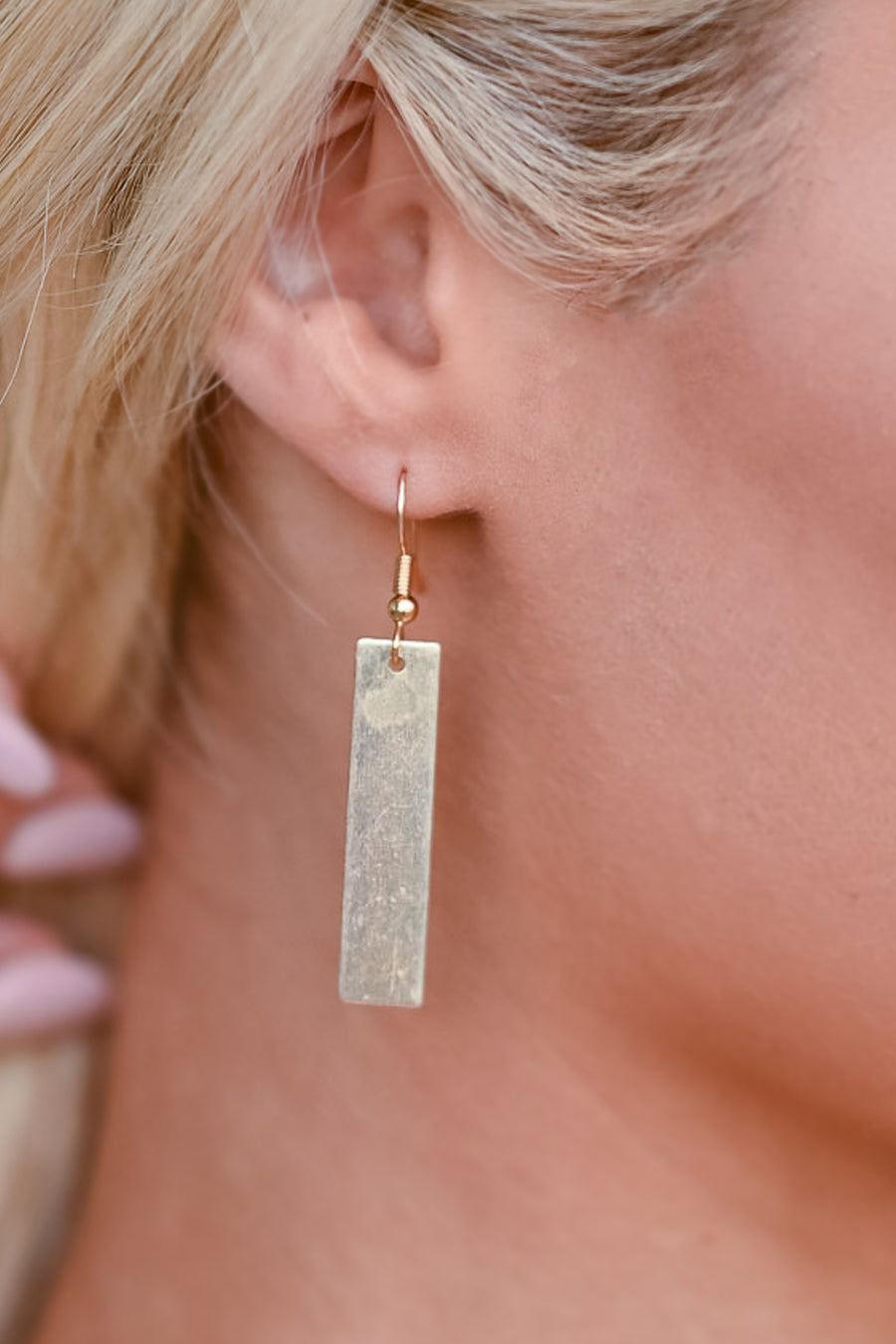 By and By Dangle Earrings - Gold womens casual earrings closet candy side