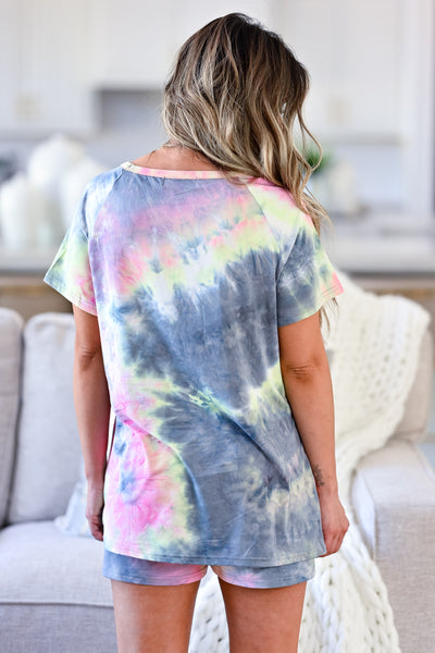 CBRAND At Peace Loungewear - Tie Dye womens casual tie dye lounge set closet candy back