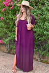 I'll Be By The Pool Maxi Dress - Dusty Rose women's oversize t-shirt long dress, Closet Candy Boutique front