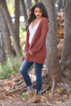No Bad Days Knit Cardigan - Rust women's knit open sweater, closet candy boutique 5