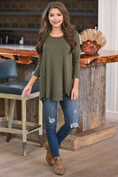 Capture My Heart Top - Olive women's Black Friday long sleeve top, closet candy boutique 1