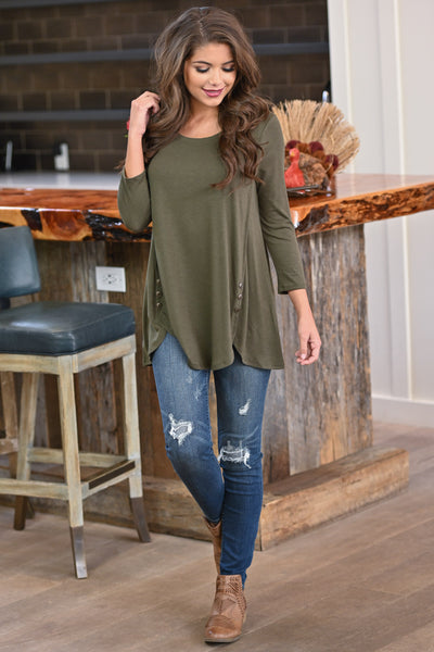 Capture My Heart Top - Olive women's Black Friday long sleeve top, closet candy boutique 4