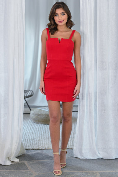 The Perfect Occasion Dress - Red women's fitted date night dress, Closet Candy Boutique 1