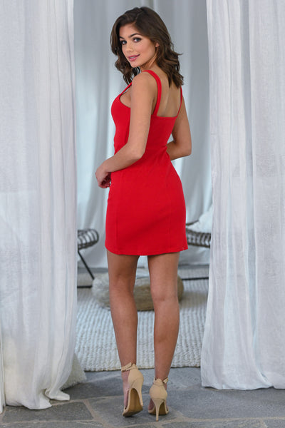 The Perfect Occasion Dress - Red women's fitted date night dress, Closet Candy Boutique 3
