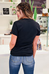 """XOXO"" Graphic Tee - Black closet candy women's trendy round neck graphic top back"