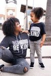 """Be Anything Be Kind"" Graphic Hoodie - Charcoal closet candy trendy unisex printed hooded sweatshirt 2"