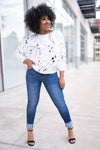 Paint The Town Dolman Sleeve Top - White closet candy 3