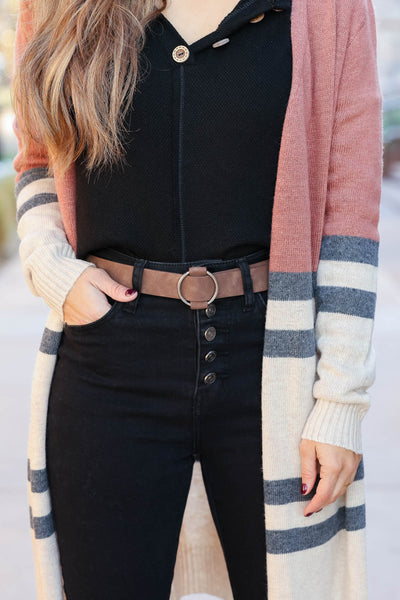 Going In Circles Belt - cocoa closet candy womens simple vegan belt 1