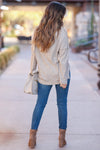 Cute As A Button Long Sleeve Top - Oatmeal closet candy 4