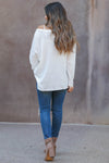 Cute As A Button Long Sleeve Top - white closet candy womens relaxed henley top with button detail back