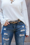 A Little Something Extra Belt - Leopard closet candy animal print skinny belt 1