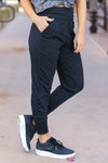 THREAD & SUPPLY Just Kickin It Joggers - Black closet candy womens moisture wicking pants side