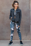 EUNINA True To Yourself Denim Jacket - Black closet candy womens jeans jacket raw edge 2