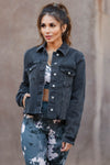 EUNINA True To Yourself Denim Jacket - Black closet candy womens jeans jacket raw edge 1