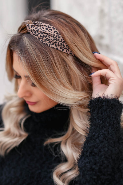 Indecisive Headband - Mocha & Leopard closet candy women's accessories 1