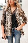 Boys Club Blazer - Leopard closet candy womens office chic animal print open front jacket 2