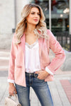 CBRAND Up Till Midnight Velvet Blazer - Blush closet candy women's trendy pink velvet jacket 1