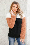 CBRAND Right On Cue Color Block Sherpa - Black closet candy trendy womens pullover 3