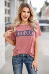 """SHOPCCB"" Graphic Tee - Berry closet candy womens heather printed round neck shirt 1"