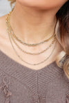 Happy Endings Layered Chain Necklace - Gold closet candy women's trendy layered necklace with different chain styles 2