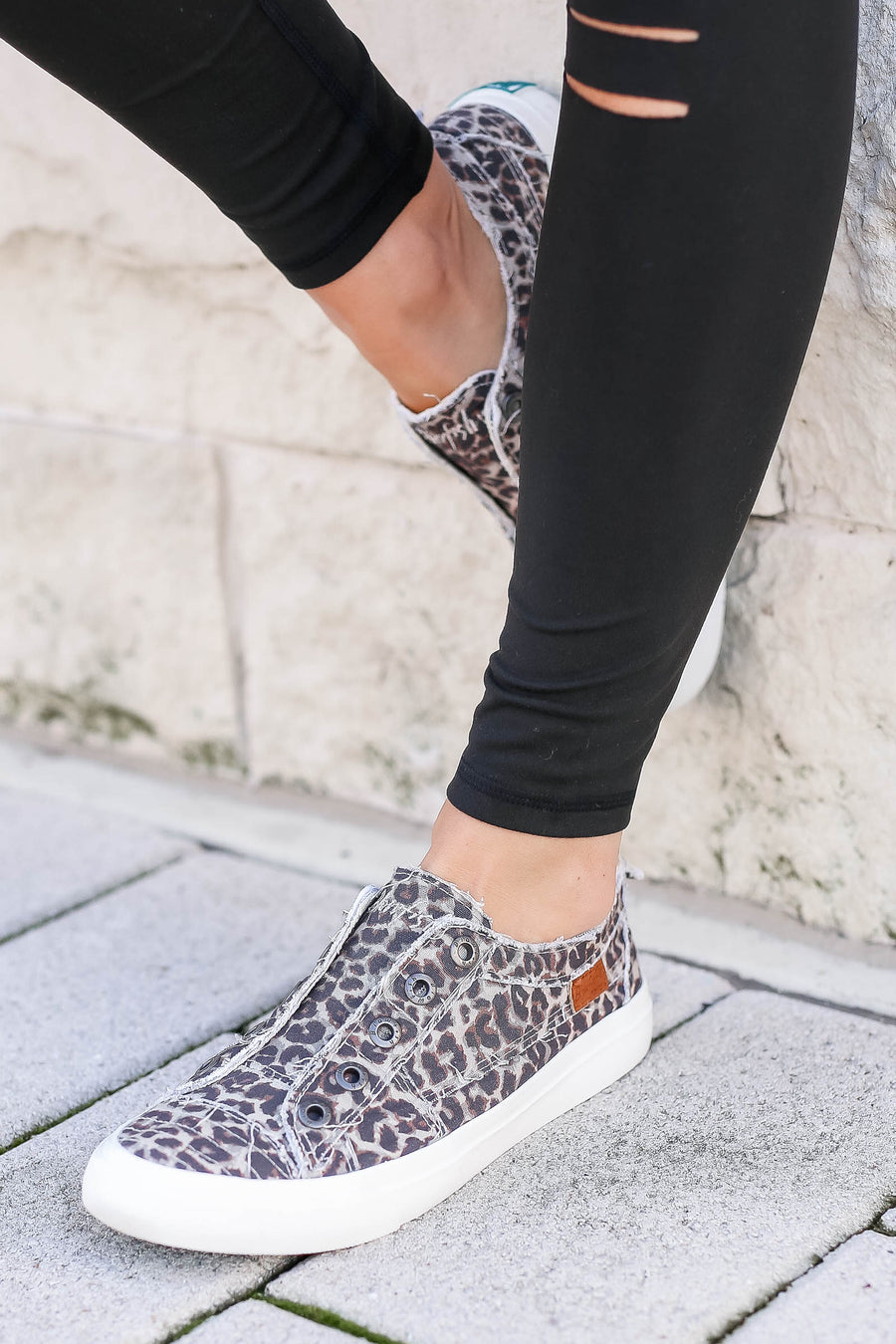 Wherever You Wander Sneakers - Vintage Leopard closet candy women's trendy slip on sneakers 1