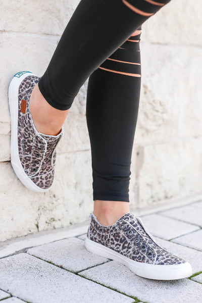 Wherever You Wander Sneakers - Vintage Leopard closet candy women's trendy slip on sneakers 3