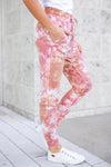 A Million Reasons Tie Dye Joggers - Dusty Rose closet candy women's trendy tie dye jogger pants side