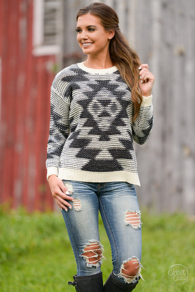 ELAN Completely Adored Tribal Sweater