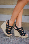 CHINESE LAUNDRY Believe Me Wedges - Black
