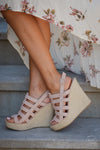 CHINESE LAUNDRY Believe Me Wedges - Blush